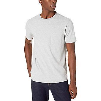 Merkki - Goodthreads Men's Lyhythihainen Haastettu Jersey Crewneck Pocket T-paita, Heather Harmaa Syöttöraita X-Large