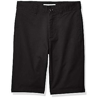 Essentials Boys' Woven Shorts, Black, 14(S)