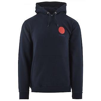 Edwin Navy Japanese Sun Hooded Sweatshirt