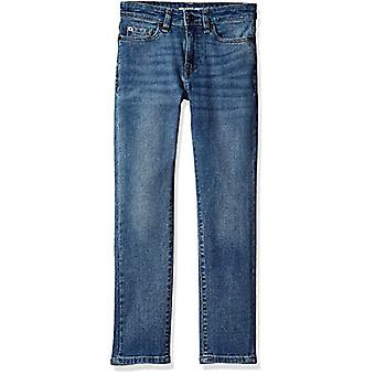 Essentials Little Boys' Slim-Fit Jeans, Doppler/Light Wash,5