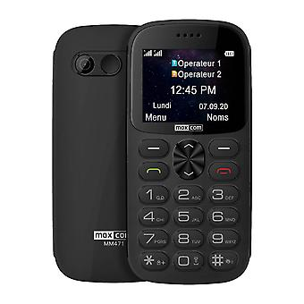 Senior Double SIM Phone with SOS Button 1400mAh Autonomy 14h MM471 Maxcom - Gray