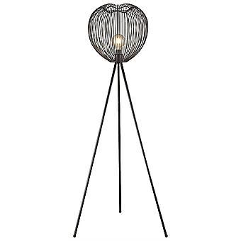 1 Lámpara de Pie Ligera Matt Negro, E27
