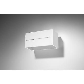 2 lys op ned flush væg lys hvid