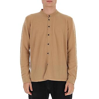 Laneus Cmu1400cc12cml Men's Beige Cotton Shirt