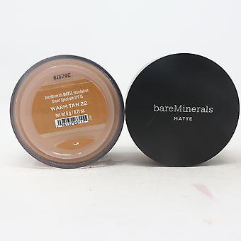 Bareminerals Matte Loose Powder Mineral Foundation Spf 15  0.21oz/6g New