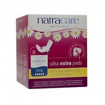 Natracare - Ultra Extra tyynyt pitkä 8pads