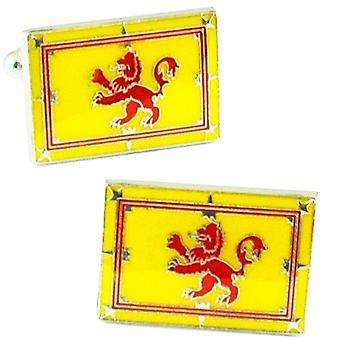 Krawatten Planet Lion Rampant von Schottland, schottische Löwenflagge Manschettenknöpfe