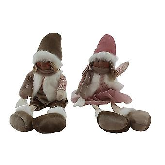 Santa Boy Bege sentado 33 cm