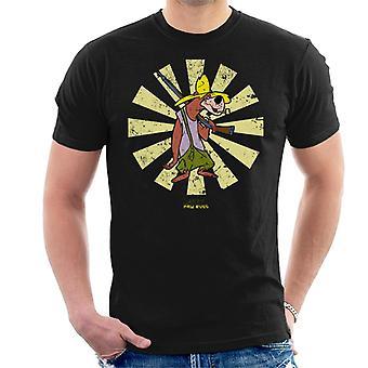 Paw Rugg Retro Japanese Hillbilly Bears Men's T-Shirt