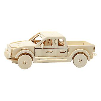 Childrens 3D Wooden Truck 19.5cm Self Assembly Craft Kit