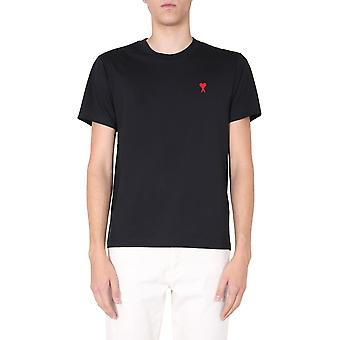 Ami H20hj108723001 Männer's schwarze Baumwolle T-shirt