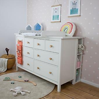 Puckdaddy stojak do przechowywania Lasse 19x30x93 cm w kolorze białym nadaje się do IKEA Hemnes komoda przedszkola
