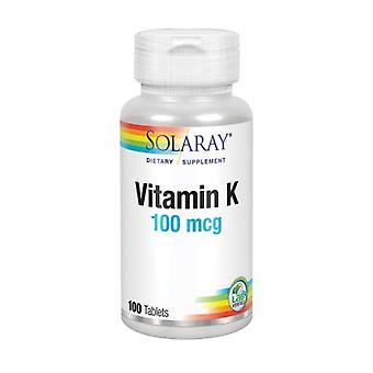 Solaray فيتامين K، 100 ميكروغرام، 100 علامات التبويب