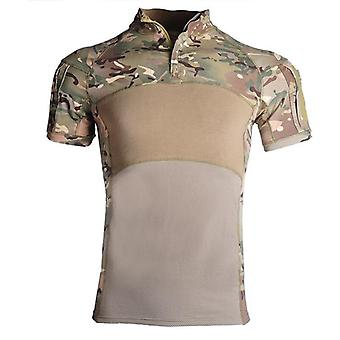 Airsoft Camouflage Hunting Base Layers Combat Shirts, Rapid Assault Short