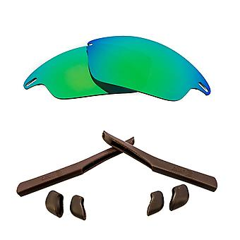 الاستقطاب استبدال العدسات عدة ل Oakley سريع سترة خضراء مرآة براون المضادة للخدش المضادة للوهج UV400 من قبل SeekOptics