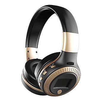 Zealot B19 Wireless Headphones with LED Display and FM Radio - Bluetooth 5.0 Wireless Headphones Stereo Studio Gold