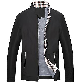 Men's Stand Collar Solid Color Slim Jacket Simple Fashion Jacket