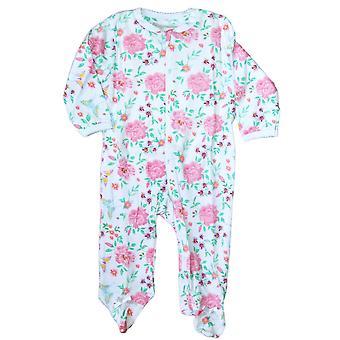 Pyjamas dans l'ensemble avec le pied, Fleurs