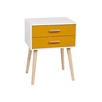 1/2 Drawer Wood Bedside Table