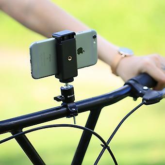 [Entrepôt des Émirats Arabes Unis] PULUZ Bike Aluminium Handlebar Trépied Ball Head Adaptateur Mount pour GoPro HERO9 Noir /8 Noir / Max / HERO7, DJI OSMO Action, Xiaoyi et