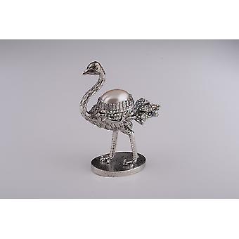 Silver Ostrich-trinket Box