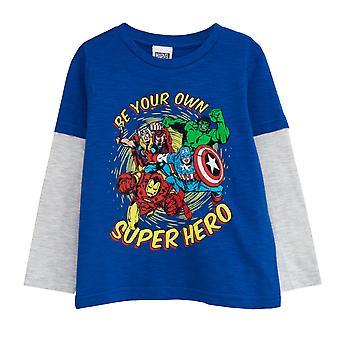 Officiële Kids Marvel T-shirt met lange mouw be your own superheld jongens meisjes Hulk