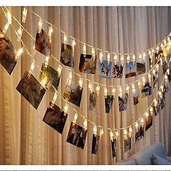 Led Photo Holder String Lights