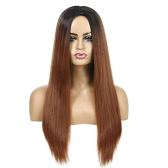 Women's Wig Multi-Color Long Straight Hair Women's Chemical Fiber Hair Wig Sheath