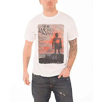 The Wicker Man Mens T Shirt White Studiocanal Vintage Movie Poster Official