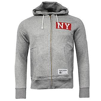 Majestic NY New York Zip Up Hooded Jumper Grey Mens A3NGI5215GRY R8H
