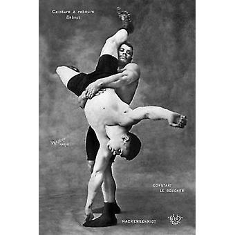 Ceinture a Rebours Debout Poster Print by Vintage Wrestler