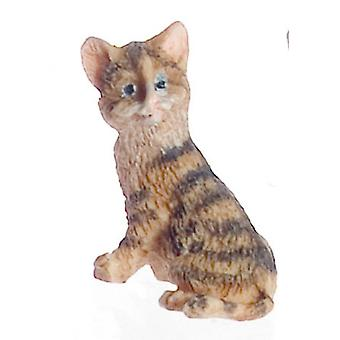 Dolls House Falcon Miniature Accessoire Pet Brown Kitten