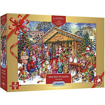 This Way to Santa Limited Edition Christmas Jigsaw Puzzle - 1000 Pièces