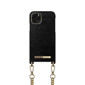 iDeal de Suecia iPhone 12 Mini collar caso - Jet Negro Croco