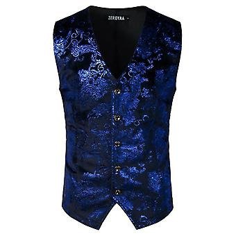 Mens Single Breasted V-neck Wedding Suit Vests