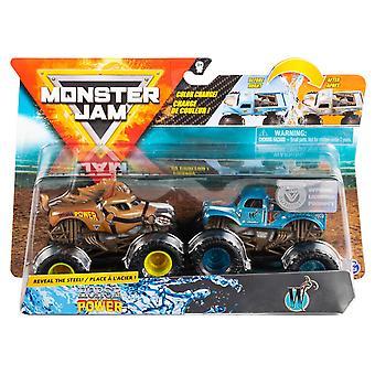 2-pack Hot Wheels Monster Jam Horse Power & W Whiplash Toy Car 9cm