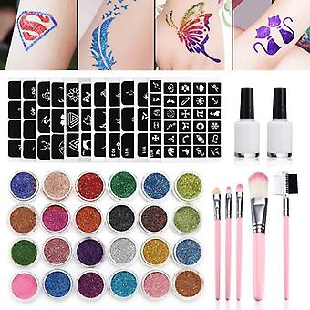 Flash Diamond, glitter, Flash Powder, Tijdelijke Tatoeages, gezicht, Body Paint