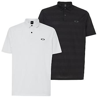 Oakley Mens 2021 Contender Stripe Hydrolix Wicking Polo Shirt