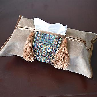 European Style Embroidery Tissue Box, Pumping Napkin Cover