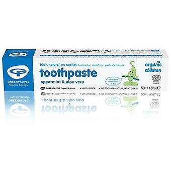 Green People Toothpaste for children of mint and aloe vera 50 ml