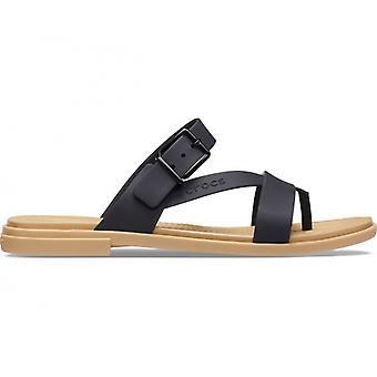 Crocs 206108 Tulum Toe Post Sandal Ladies Sandals Black/tan