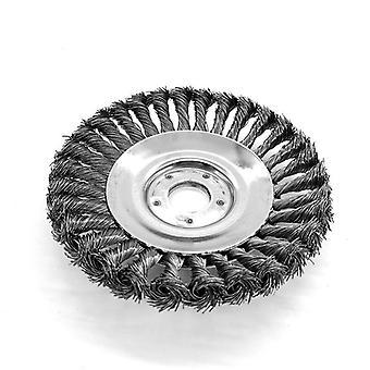Græs trimmer Head Plæneklipper Stål Wire Wheel Brush Legering Weeding Bakke Skraber
