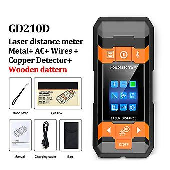Gvda metal detector laser distance meter rangefinder wall scanner copper ac wiring wood finder wires depth tracker tape measure