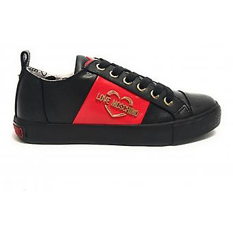 Shoes Woman Love Moschino Sneaker Ecopelle Nappa Black D20mo11