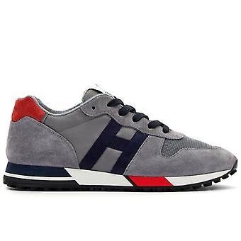 Heren Sneaker Hogan H383 Grijs, Blauw en Rood