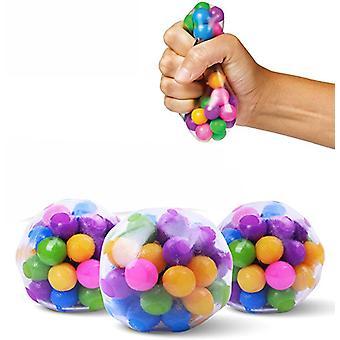 1/3pcs duidelijke stress ballen kleurrijke bal autisme stemming squeeze relief gezond speelgoed grappige gadget vent speelgoed kinderen kerstcadeau