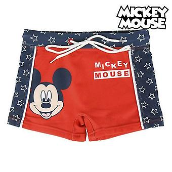 Boys swim shorts mickey mouse red blue