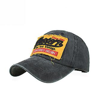 Washed Cotton Western Embroidered Baseball Cap Peaked Cap Sun Hat