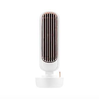 Humidification Electric Fan Mute Vertical Leafless High Volume Tower Fan Home Office Desktop Retro Water Cooling Fan