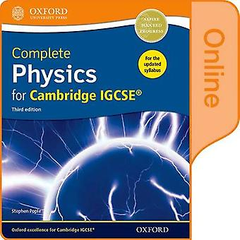 Complete Physics for Cambridge IGCSE R Online Student Book by Stephen Pople